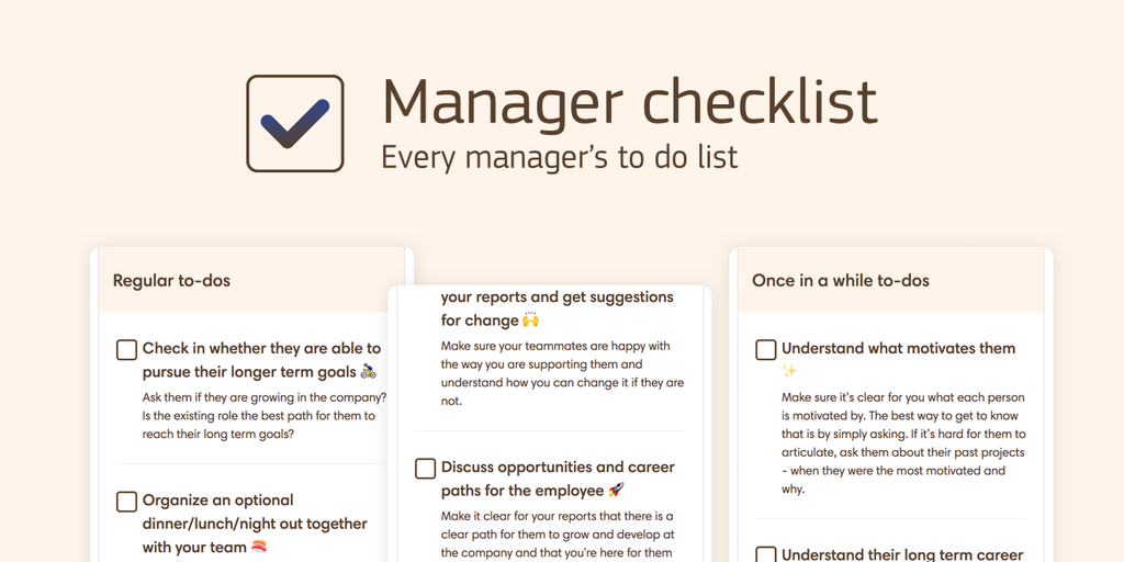 Manager checklist product hunt altavistaventures Image collections