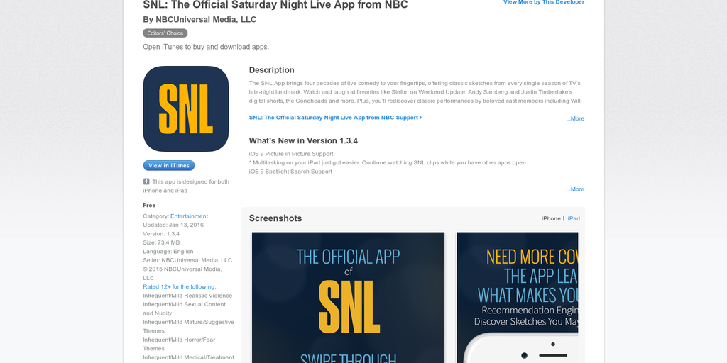 SNL - Live from your iPhone, it's Saturday Night! | Product Hunt