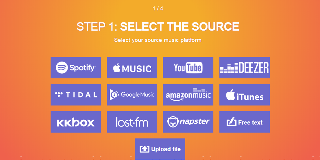 TuneMyMusic - Transfer your playlists and music lib between