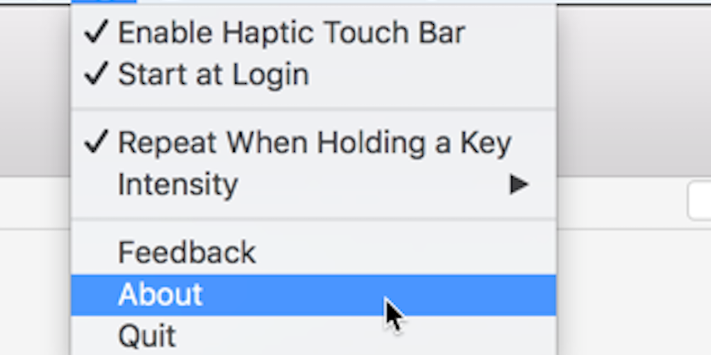 Haptic Touch Bar - The missing haptic feedback for Touch Bar keys