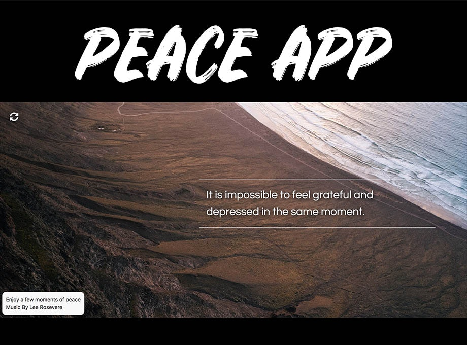 Peace Chrome Extension - A Chrome extension for relaxation, meditation and peace