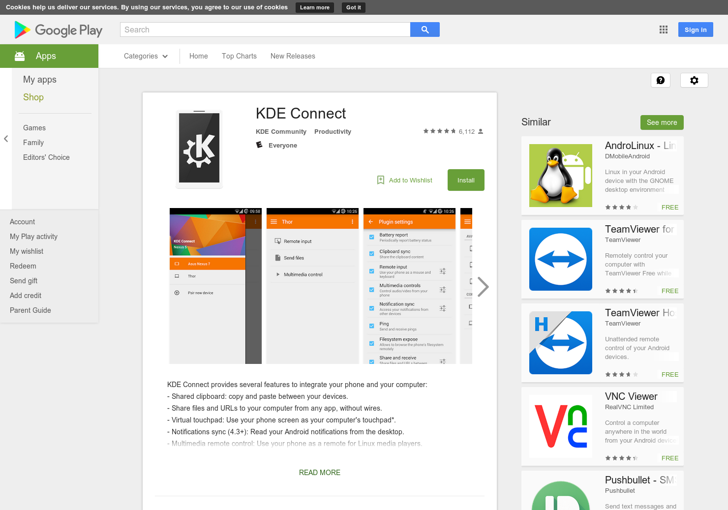KDE Connect - Open Source alternative of Pushbullet (For