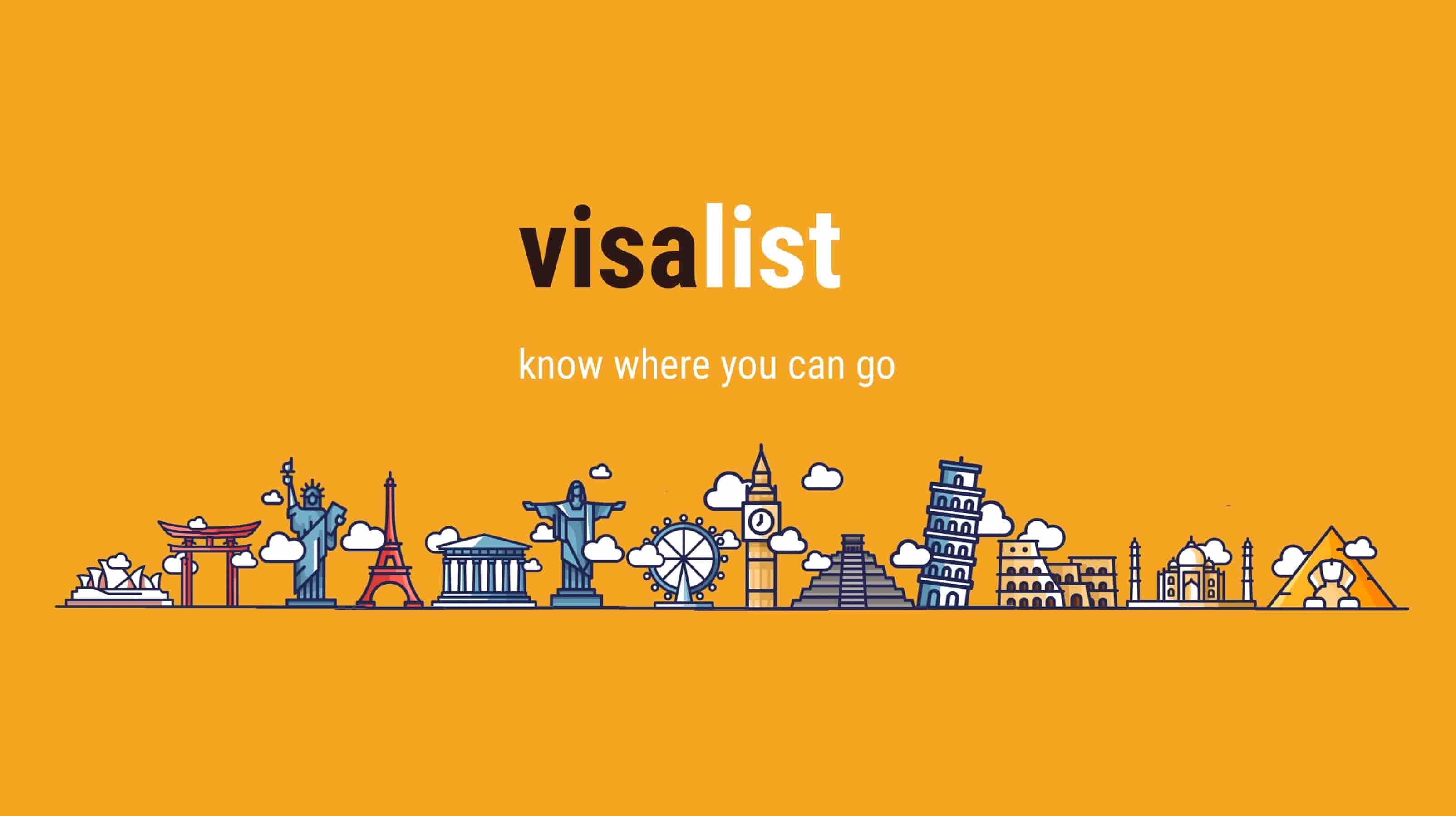 VisaList - Travel tension free without visa requirement research