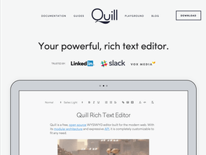 Quill 1 0 - An API driven rich text editor   Product Hunt