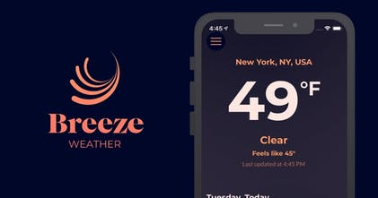 Breeze - A weather app with a minimal, bold and ad-free design