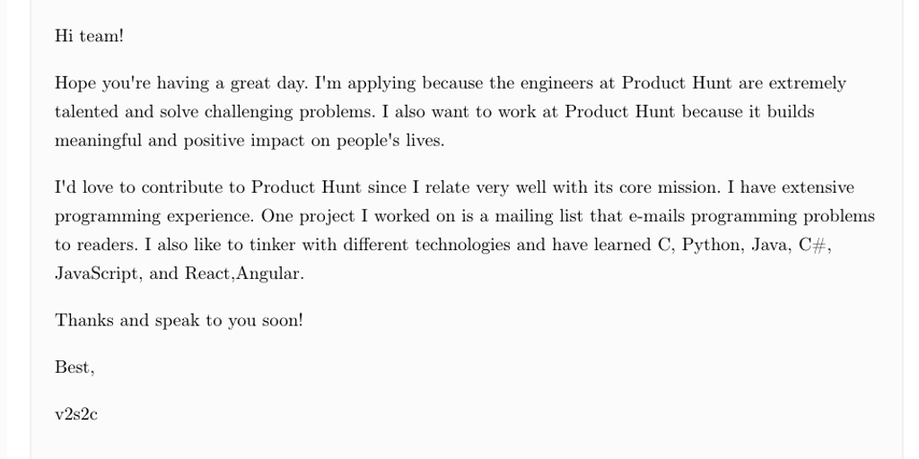 Cover Letter Generator Quickly Generate Cover Letters With Minimum Details Product Hunt
