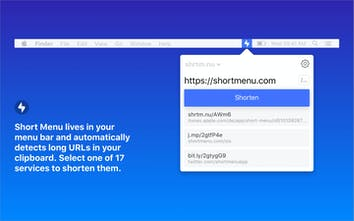 Short Menu 3 0 for Mac - The most powerful URL shortener for
