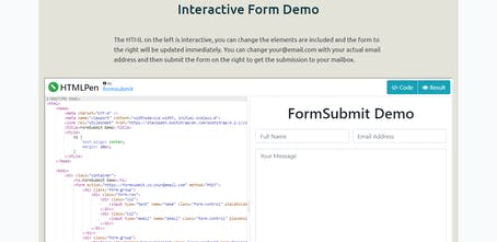 FormSubmit 2 0 - Receive your site's form submission directly to
