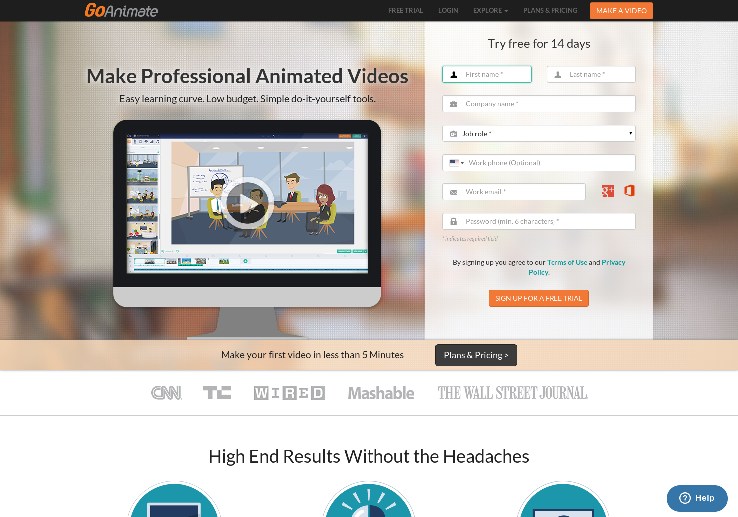Go Animate - Make Professional Animated Videos with simple