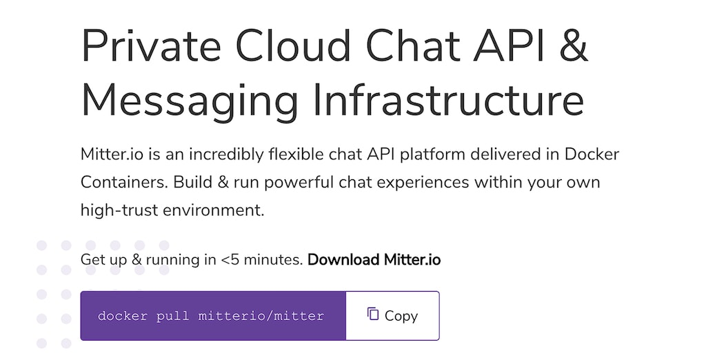 mitter.io - Flexible, Private Cloud Chat API for Developers | Product Hunt