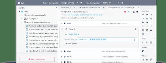 Testcafe Studio - An end-to-end web testing visual editor