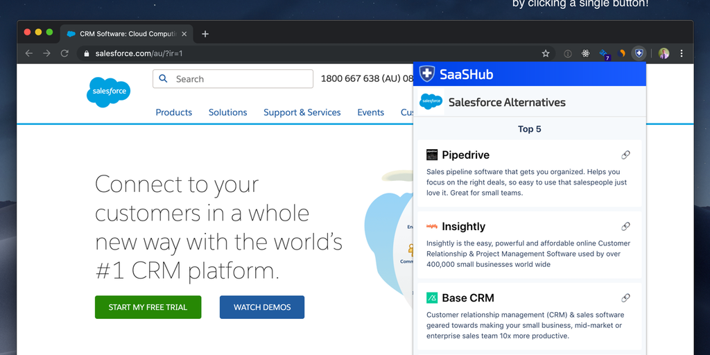 Alternative To by SaaSHub - Find the alternative to every product with a single click | Product Hunt