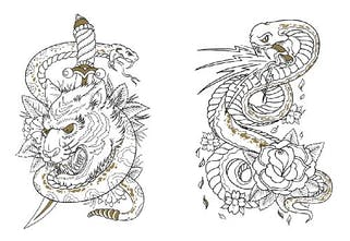 Tattoo Coloring Book - Color tattoo designs on paper instead ...