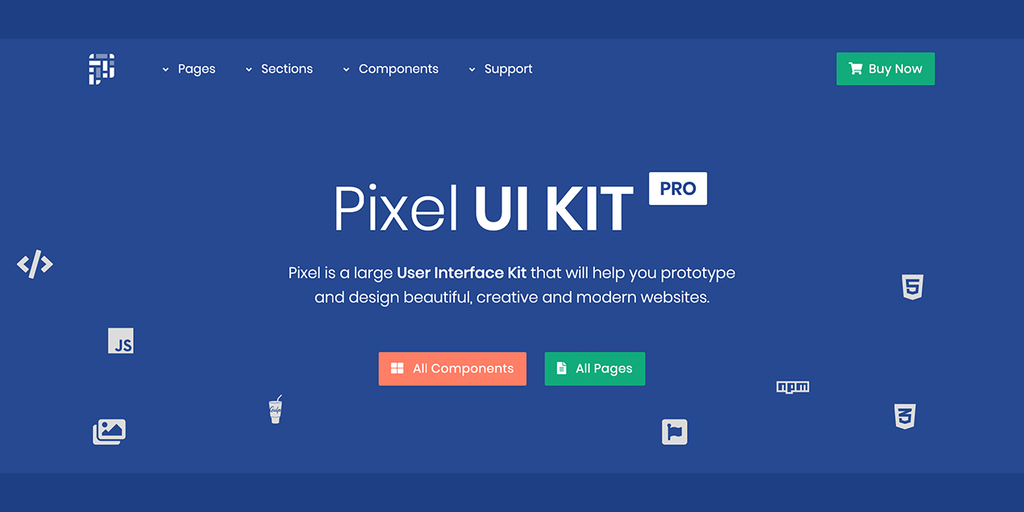 Pixel UI Kit - The Ultimate Bootstrap 4 UI Kit | Product Hunt
