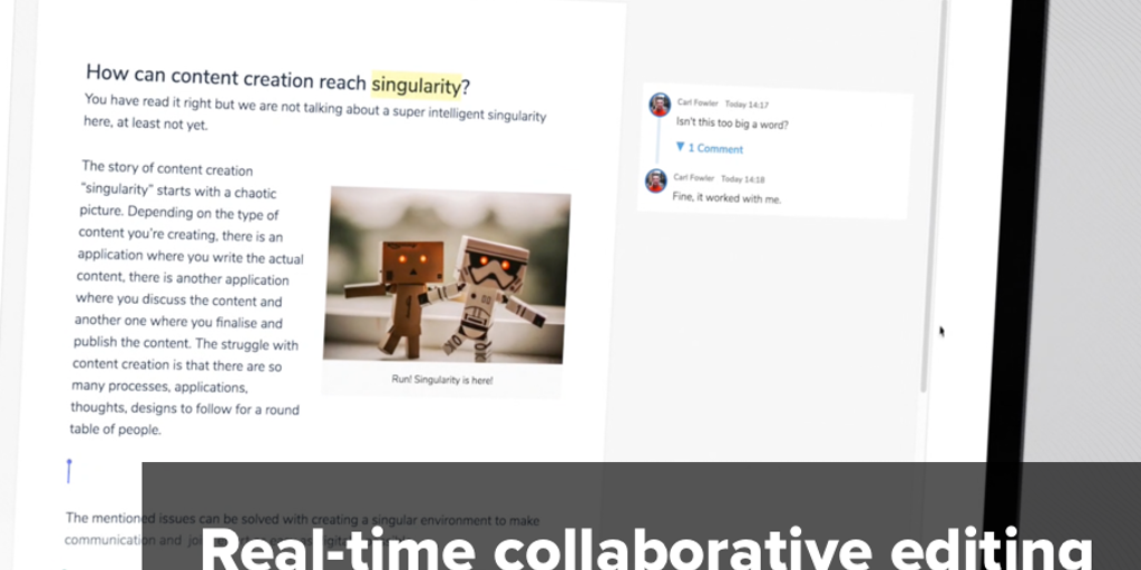 CKEditor 5 - Real-time collaborative future-ready rich text editor
