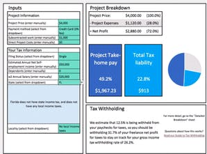 Freelance Project Tax Calculator - Calculate taxes and take