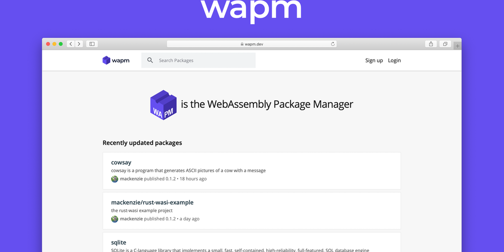 WAPM - The WebAssembly Package Manager | Product Hunt