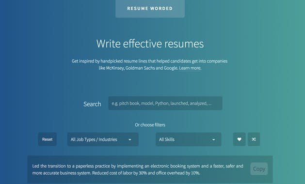 Resume Worded - Product Hunt