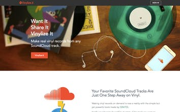 Vinylize it - Make real vinyl records from any SoundCloud