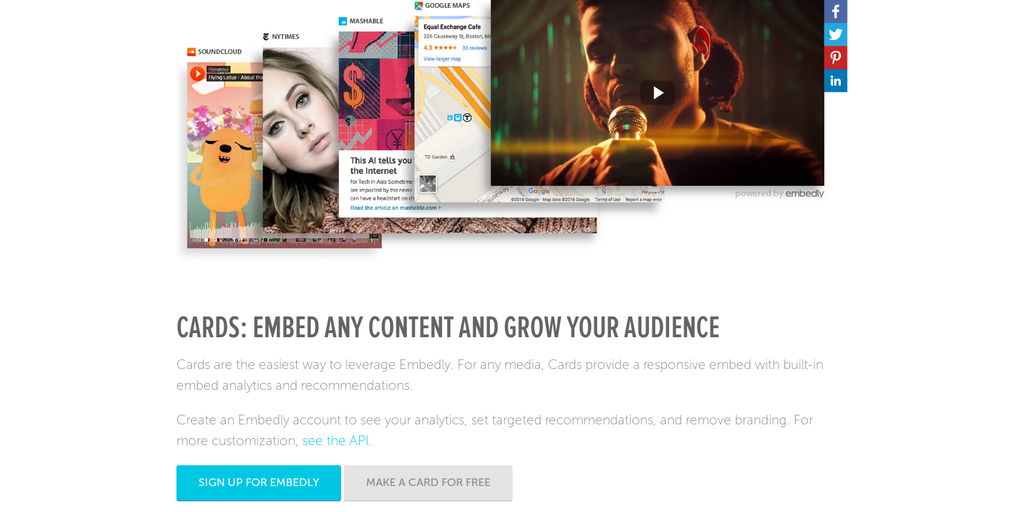 Embedly - Responsive shareable cards for any content on the