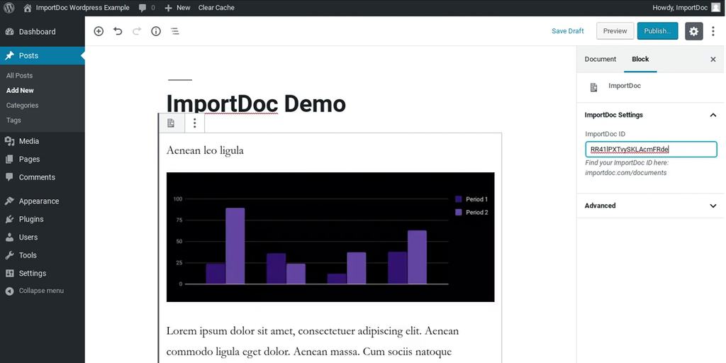 ImportDoc Block for WordPress - Instantly update a WordPress post by editing a Google Doc | Product Hunt