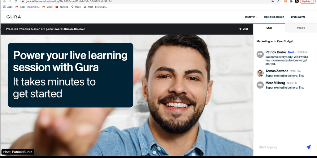 Gura - A livestreaming platform built for learning experiences   Product Hunt