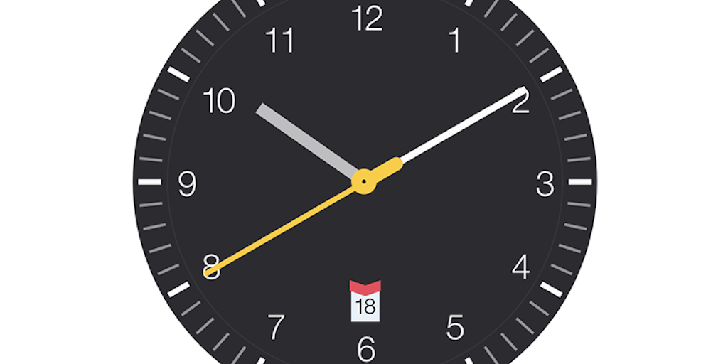 Clock saver - A simple clock screensaver based on Braun watches
