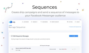 MFY im - Facebook Messenger sequences and growth widgets for
