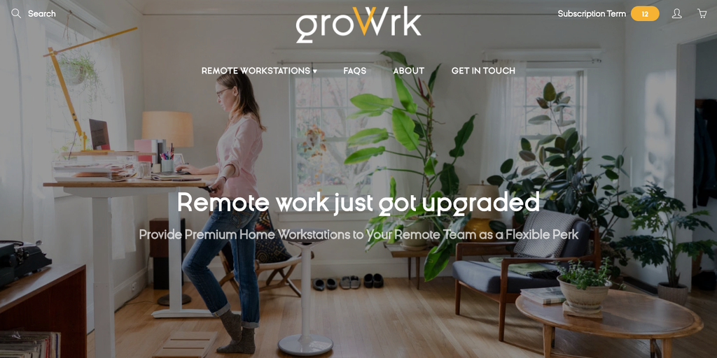 GroWrk - Flexible home workstations for remote teams as a perk | Product Hunt