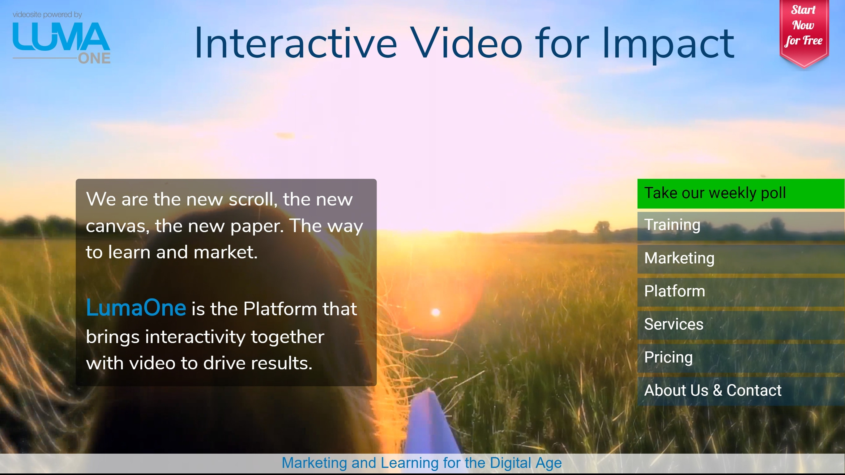 LumaOne - Its simple to make, deliver and measure interactive video