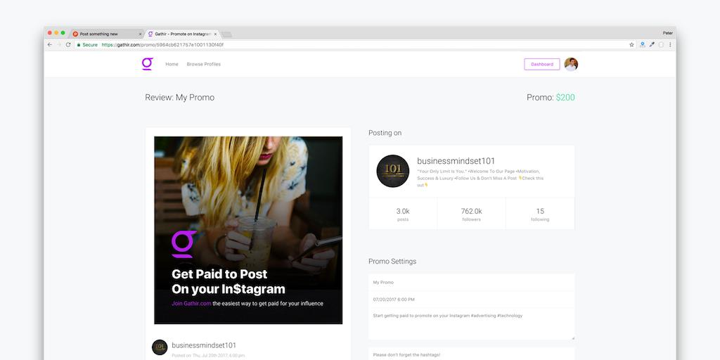 Gathir - Peer to peer social ad network | Product Hunt