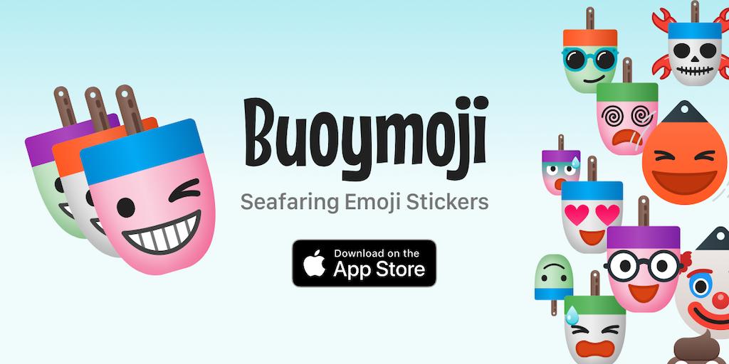 Buoymoji Colorways - Nautical themed emoji sticker variety pack for iMessage | Product Hunt