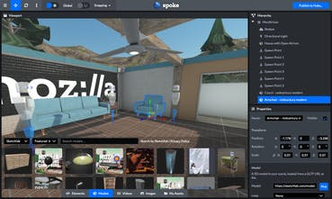 Spoke by Mozilla - Easily create 3D social VR environments in your