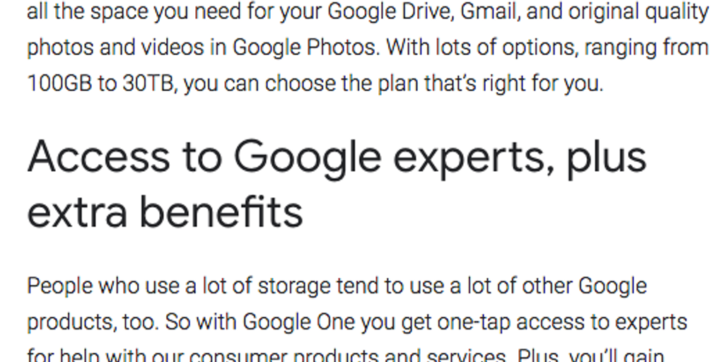 Google One - One simple way to get more out of Google