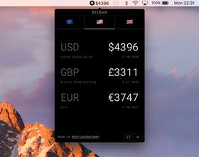 Bitdock - Track cryptocurrency price index in the MacOS menu