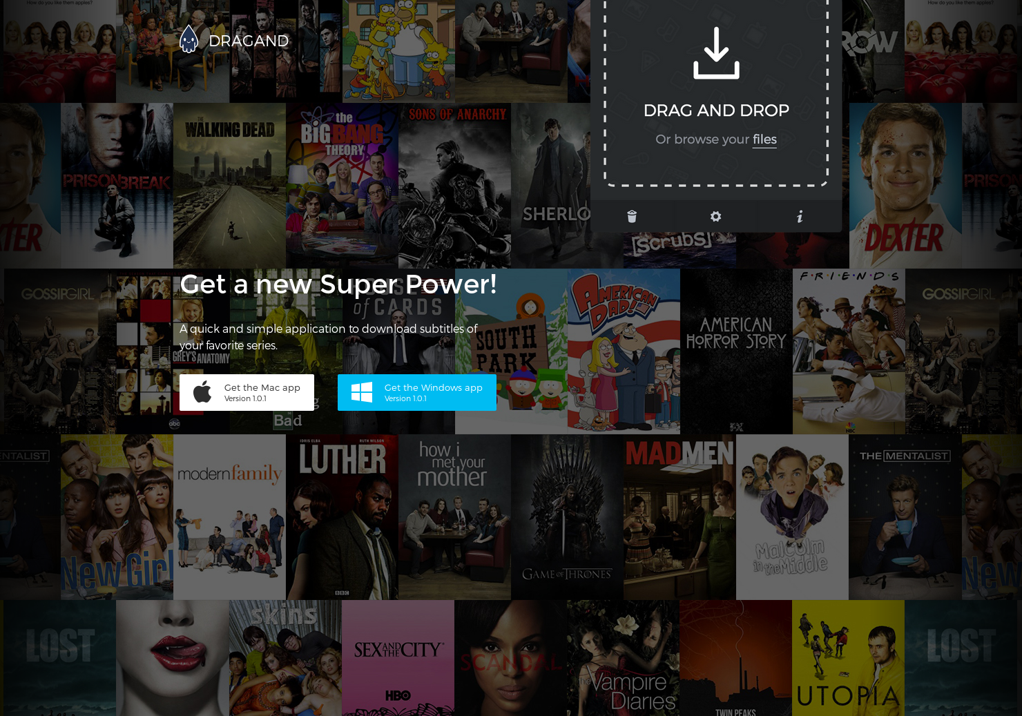 DRAGAND - Download subtitles for your favorite TV shows | Product