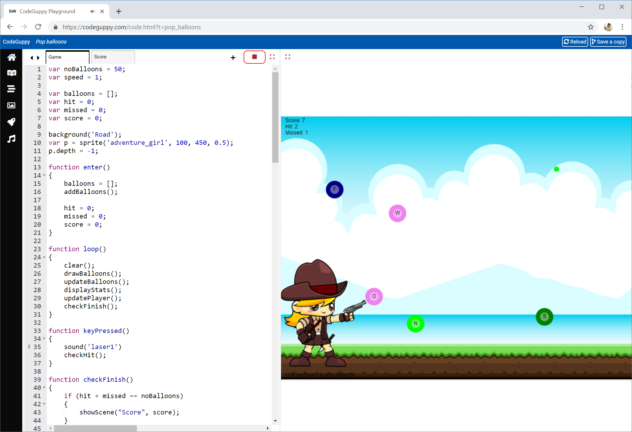 CodeGuppy - JavaScript coding site for kids, teens and creative adults!