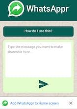 WhatsAppr - Generate WhatsApp message URLs & send bulk