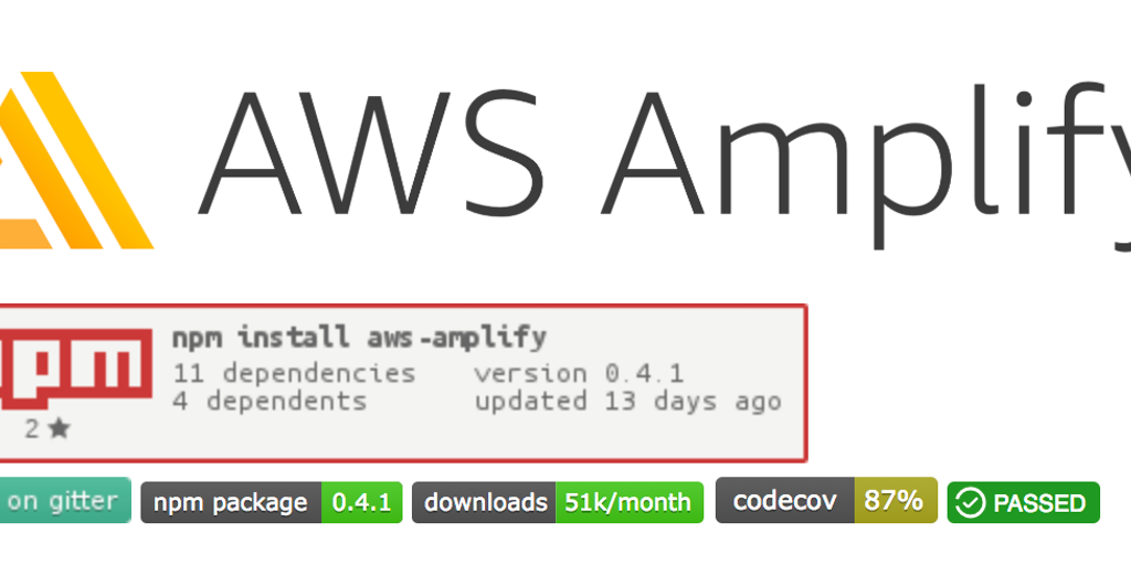 AWS Amplify - JavaScript library for app development using cloud