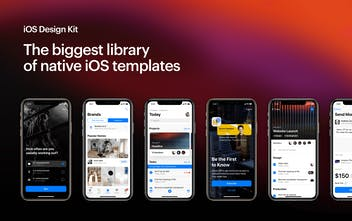 iOS Design Kit - The newest library of native iOS templates