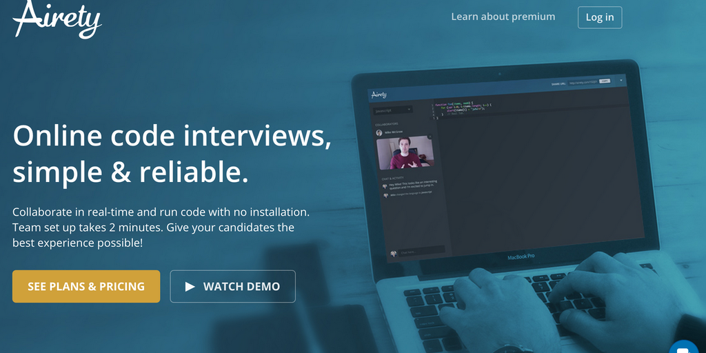 Airety - The best remote code interviewing tool for tech
