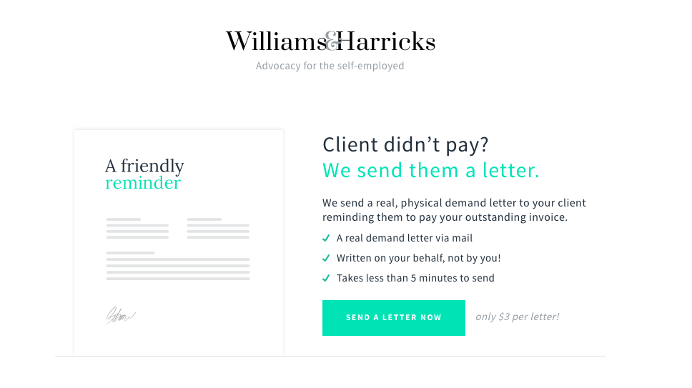 Williams Harricks Real Physical Demand Letters To Get Your