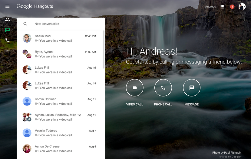 Google Hangouts - New web app for Google Hangouts cross-device
