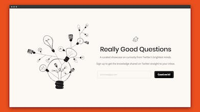 Really Good Questions - Find curious questions powered by Twitter's ...