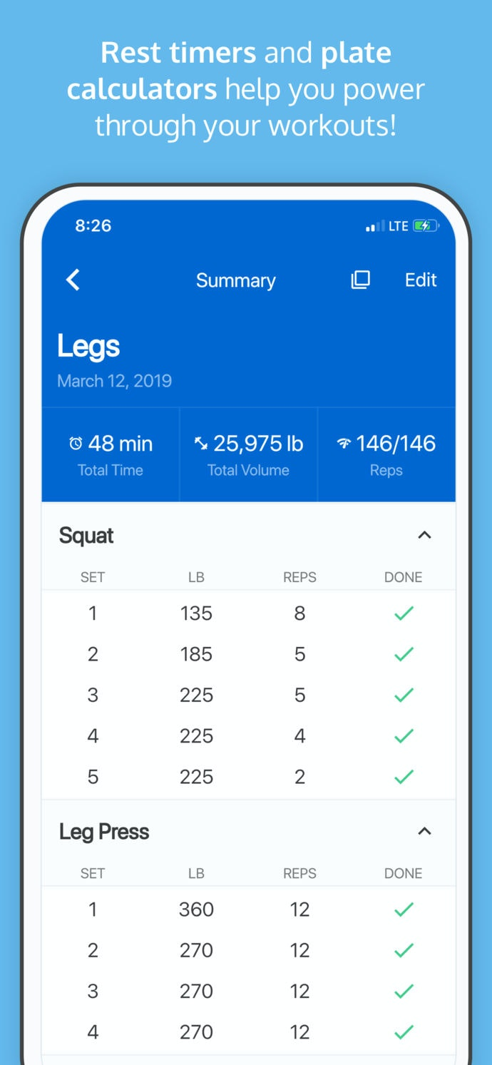 JustLift - Log workouts easily on your phone
