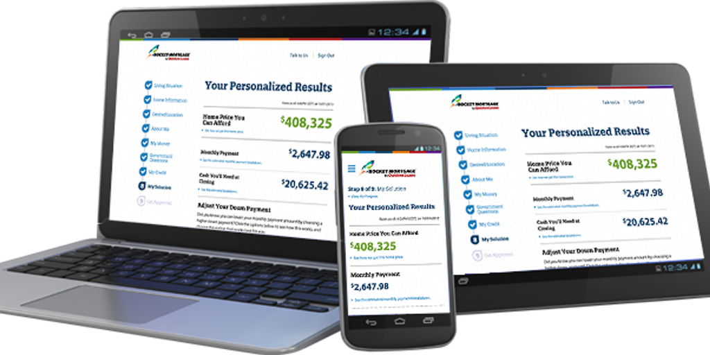 Quicken Loans Rocket Mortgage - The first completely online