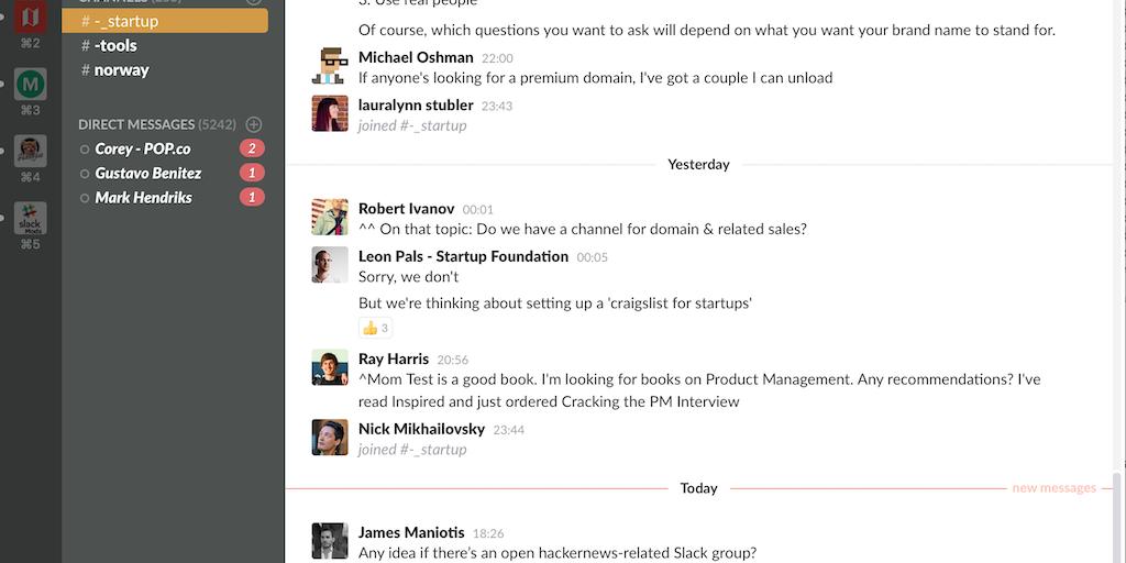 Startup Chat - The global startup community, on Slack