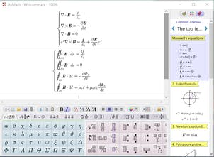 AxMath - WYSIWYG equation editor for Word and LaTeX