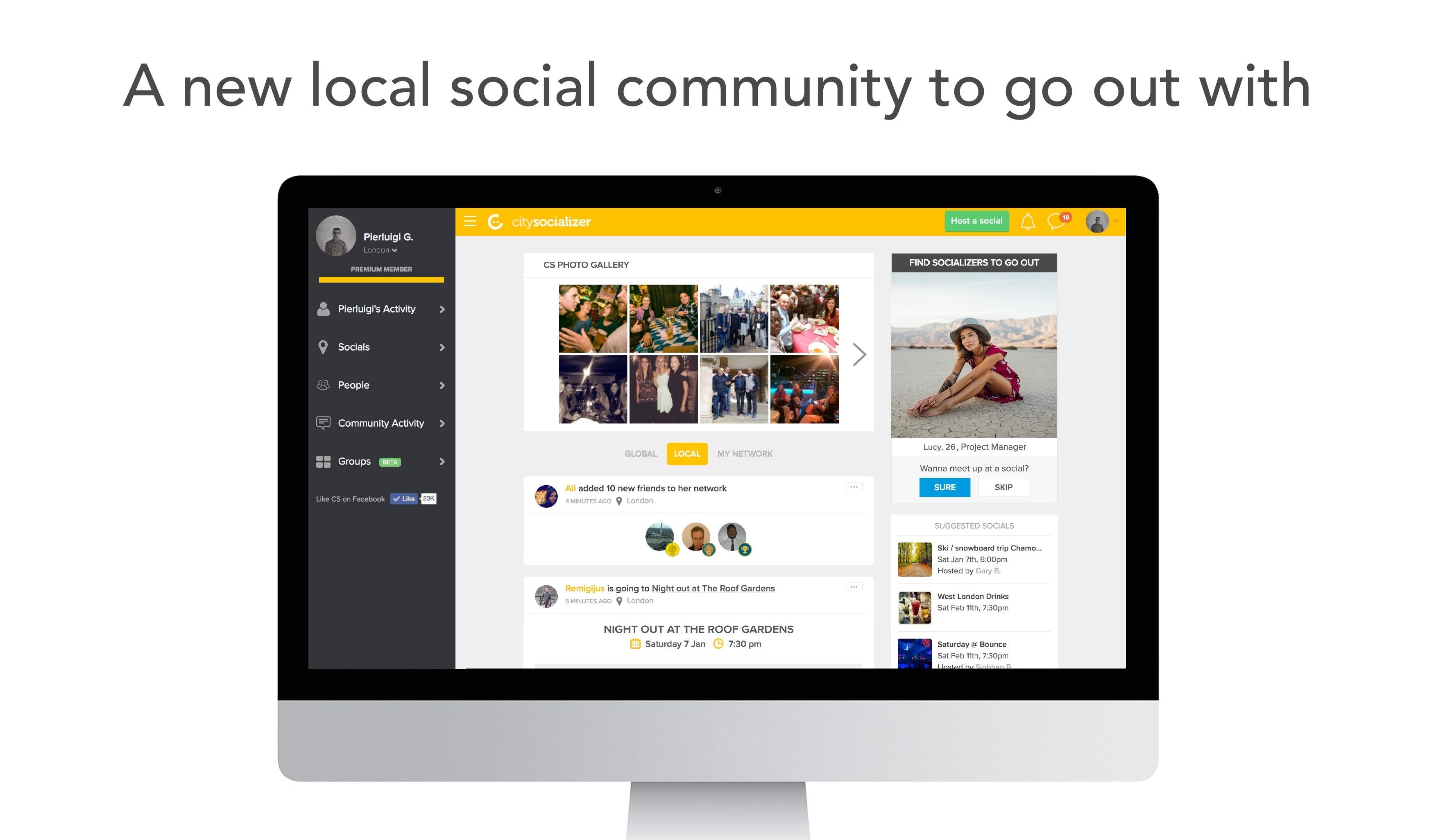 Website to meet local friends