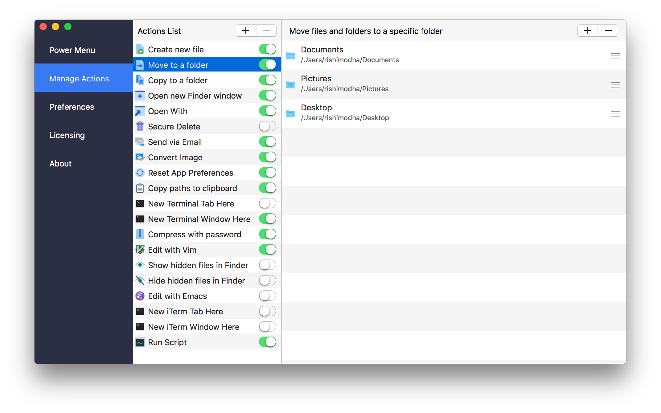 Power Menu for Finder - The workflow enhancing Finder extension for Mac